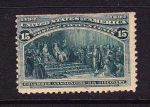 U.S 1893 15c COLUMBIAN MNH  #238
