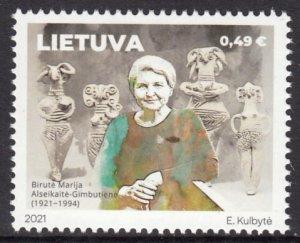 LITHUANIA 2021 FAMOUS PERSONS ALSEIKAITE-GIMBUTIENE PERSONNES CÉLÈBRES [#2102]