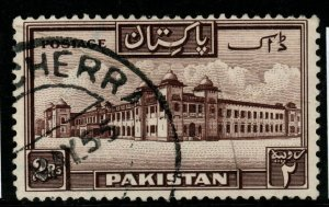 PAKISTAN SG39 1948 2r CHOCOLATE FINE USED