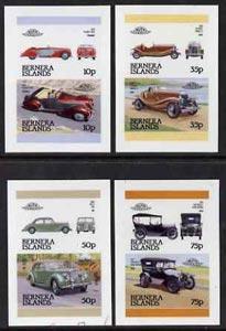 Bernera 1984 Cars set of 8 (4 se-tenant pairs) full colou...