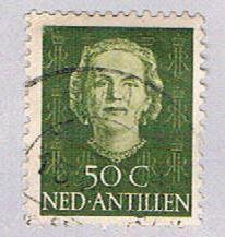 Netherlands Antilles 225 Used Queen Juliana 1950 (BP32429)