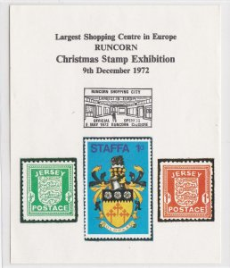 Staffa, Runcorn Shopping Centre Christmas Stamp Exhibition Sheet
