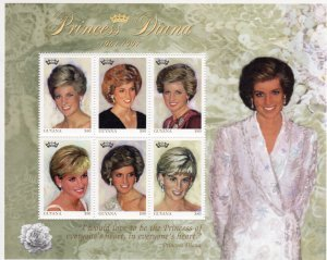 Guyana 1997 PRINCESS DIANA Sheet Perforated Mint (NH)