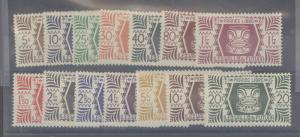 Wallis & Futuna 127-140 Mint F-VF LH