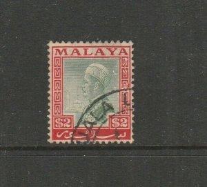 Malaya Selangor 1935/41 $2 Used SG 84