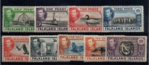 Falkland Is.  84-5, 86A, 87A, 92-96 Mint Hinged