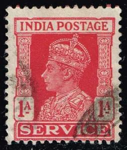 India #O108 King George VI - Official; Used (0.40)
