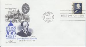1989 John Hopkins - Great Americans 2194 Artmaster FDC