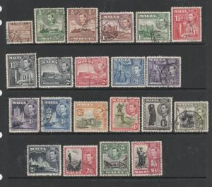 Malta 1938 Defs, set of 21 Used SG 217/31