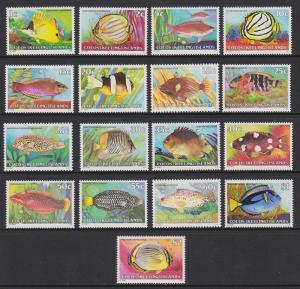 34-50 Cocos Islands 1979-80 Fish MNH
