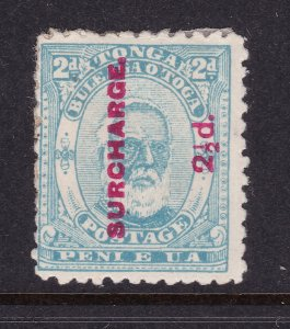 Tonga a MH a surcharged 2.5d on 2d blue from 1895