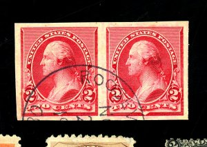 220P5 Used Proof Pair on Stamp Paper XF
