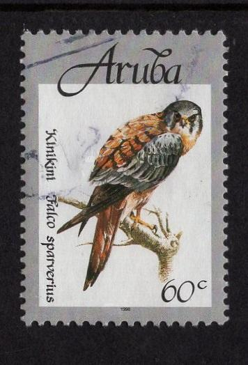 Aruba   #163   used  1998 native birds  60c