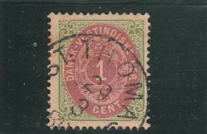 Danish West Indies  Scott#  5  Used  (1874 Numeral)