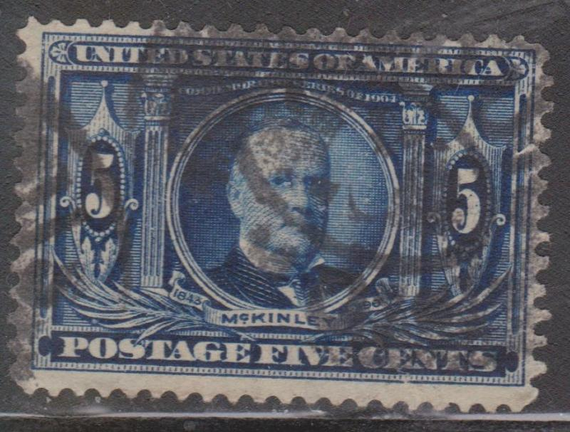 USA Scott # 326 - Used - 5 Cent William McKinley - Louisiana Purchase Issue
