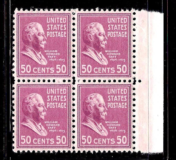 803-831 Mint,OG,NH... Blocks of 4... SCV $135.00