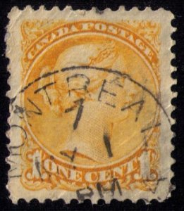 CANADA Sc #35a Orange Shade VERY FINE