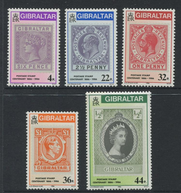 Gibraltar - Scott 485-488 - General Issue -1986 - MNH - Set of 5 Stamps