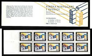 D1-Sweden-Sc#732a-unused NH booklet-Finnish settlers-