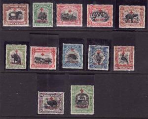 North Borneo-Sc#B31-42-unused hinged short set to the 25c+4c-Semi-Postals-
