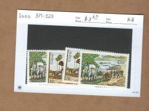 Laos  317-320  MNH