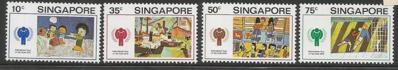 SINGAPORE  329-332  MNH,  INTL. YEAR OF THE CHILD