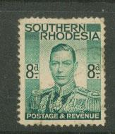 Southern Rhodesia SG 45 Used reverse show light creases