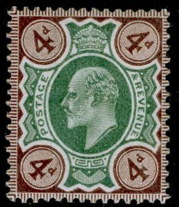 SG235 SPEC M23(-), 4d deep green & DEEP brown, LH MINT. UNLISTED.
