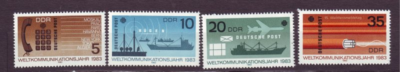 J23260 JL stamps 1983 DDR germany set mnh #2319-22 communications
