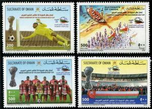 HERRICKSTAMP NEW ISSUES OMAN 23rd Arabian Gulf Soccer Champion