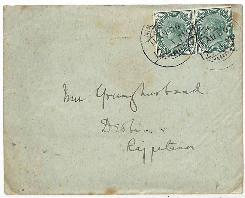 EE222 1900 India SIR FRANCIS YOUNGHUSBAND Hand-written Cover TIBET EXPLORER