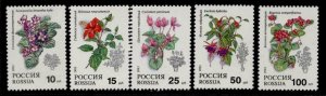 Russia 6133-7 MNH Flowers