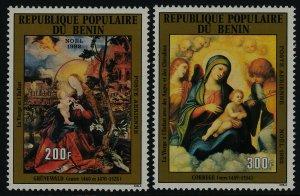 Benin C303-4 MNH Art, Christmas, Virgin & Child