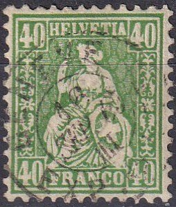 Switzerland #47 F-VF Used CV $65.00 (Z1735)