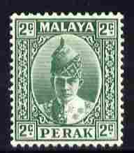 Malaya - Perak 1938-41 Sultan 2c green mounted mint SG104