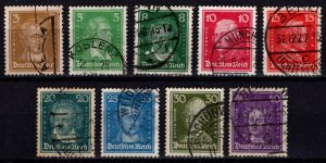 Germany 1926 Portraits, Part Set to 40pf [Used]