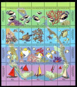 Cocos Keeling Islands 292f Marine Life Souvenir Sheet MNH VF