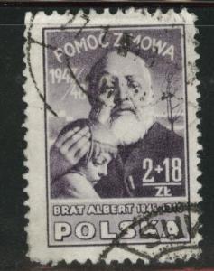 Poland Scott B57 Used semipostal stamp