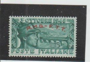 Trieste  Scott#  33  MH  (1948 Overprinted)