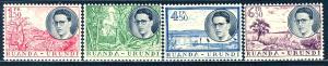 Ruanda Urundi 1955; Sc. # 133-136; **/MNH Cpl. Set