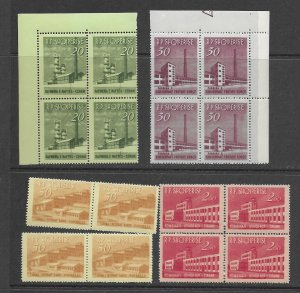 Albania 697-700 Oil Refinery MNH cpl. set vf X 4, 2020 CV $89.60