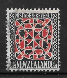New Zealand 195: 9d Maori House Decoration, used, F-VF
