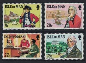Isle of Man Colonel Mark Wilks 4v 1981 MNH SG#197-200