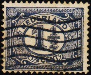 Netherlands. 1898 1 1/2c S.G.170 Fine Used