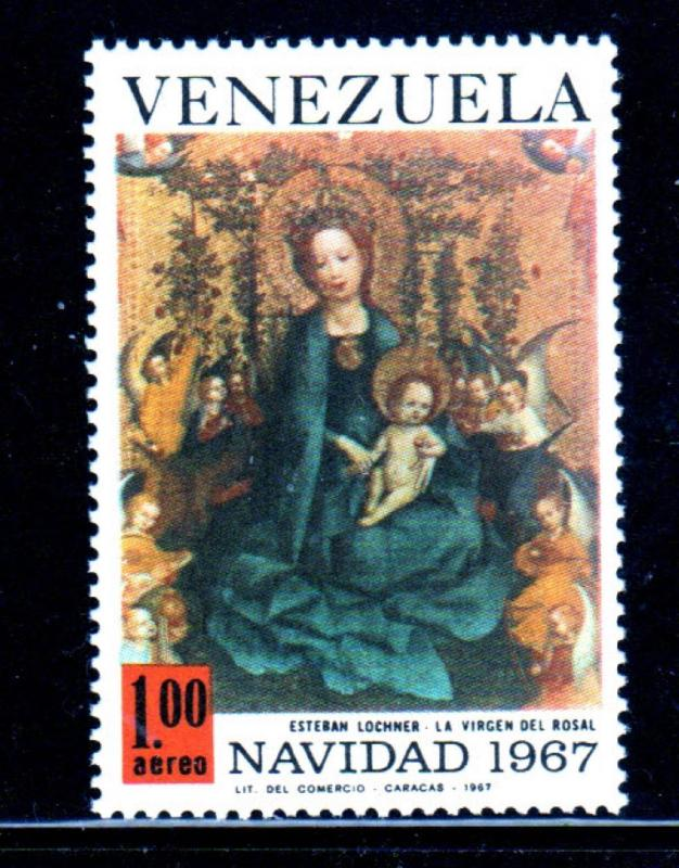 VENEZUELA #C976  1967  CHRISTMAS  MINT  VF NH  O.G