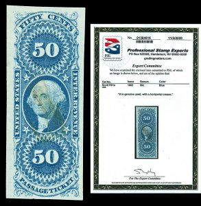 Scott R61a 1862 50c First Issue Revenue Used VF Cat $140 with PSE CERTIFICATE!
