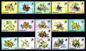 [70797] Lesotho 1984 Insects Butterflies 16 Values MNH