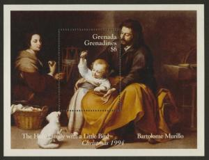 Grenada Grenadines 1709 MNH Christmas, Holy Family with a little Bird, Dog