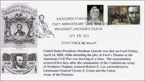2015, President Abraham Lincoln Death, Comstock MI, Pictorial, 15-093