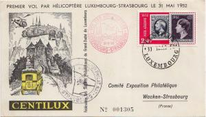 Luxembourg 2.50F Luxembourg Postage Stamp Centenary 1952 Centilux Luxembourg ...